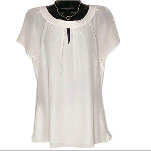 WHITE HOUSE BLACK MARKET silk blouse | L